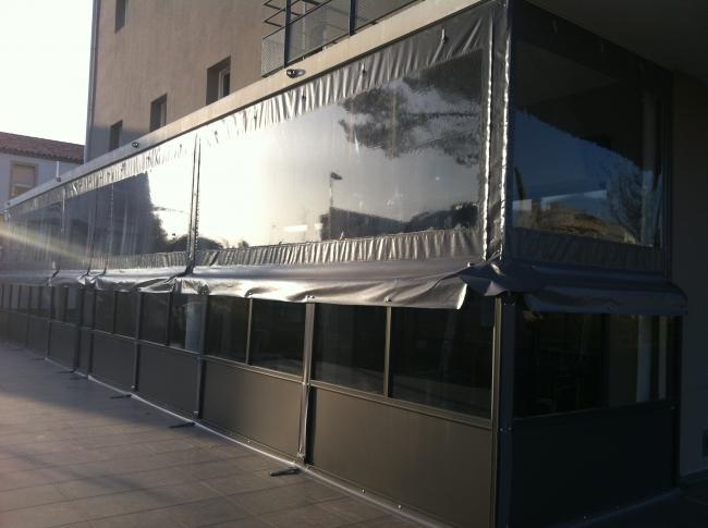 Installation vente pose r paration depannage stores - Bache coupe vent pour terrasse ...