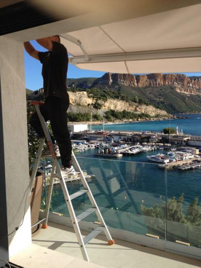 Installation vente pose r paration depannage stores for Reparation toile store exterieur